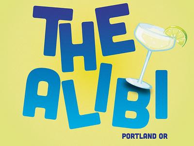 The Alibi vector simple illustration logo design typography ty graphic design