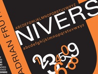 Univers Type Poster