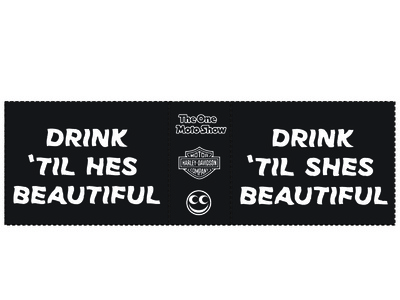 Drink til they beautiful motorcycles typography design koozie