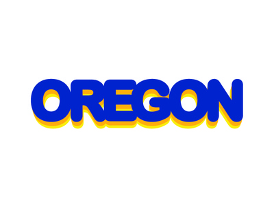 Oregon colors type round thick typography
