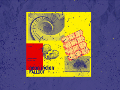 Fallout - Single of the Week song background texture saturated bright colors single music design poster russian