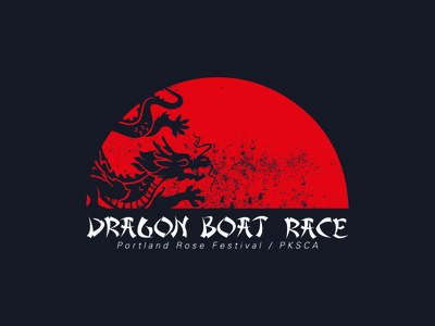 Dragon Boat Race simple illustration asian dragon pdx portland
