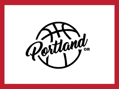 Basketball Portland illustration simple typography pdx portland basketball