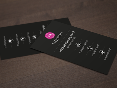Business cards - MODION print design business cards