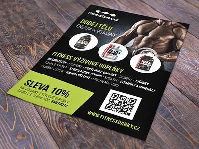 Flyer - FitnessDarky.cz print design flyer