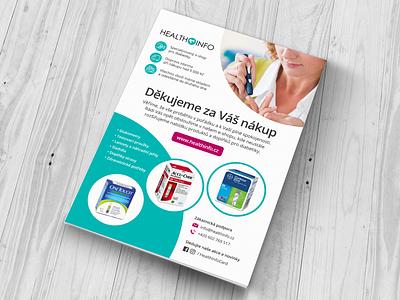 Flyer - HealthInfo.cz ecommerce flyer print design