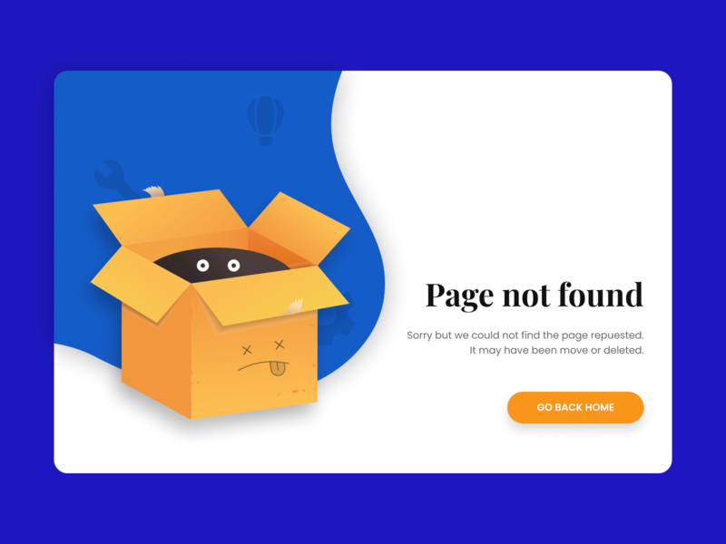 Day 6 - 404 Page layouts design daily design layout design simple design dailyui daily 100 challenge clean ui deisgn