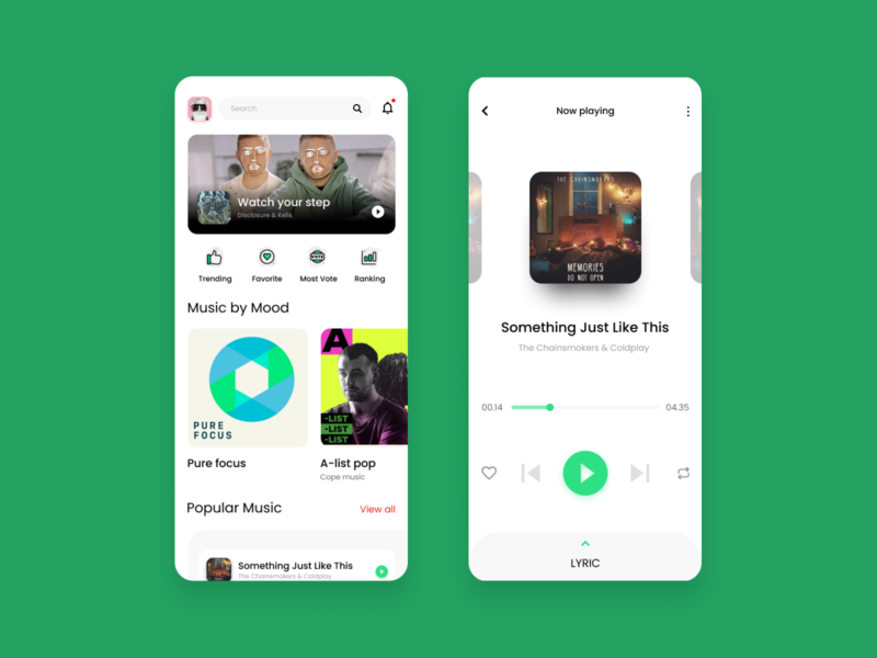 Day 7 - Music app design daily design layout design simple design dailyui daily 100 challenge clean ui deisgn
