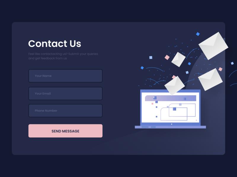 Design Daily 24 - Contact contact design daily contact design daily contact layout design simple design dailyui daily 100 challenge clean ui deisgn