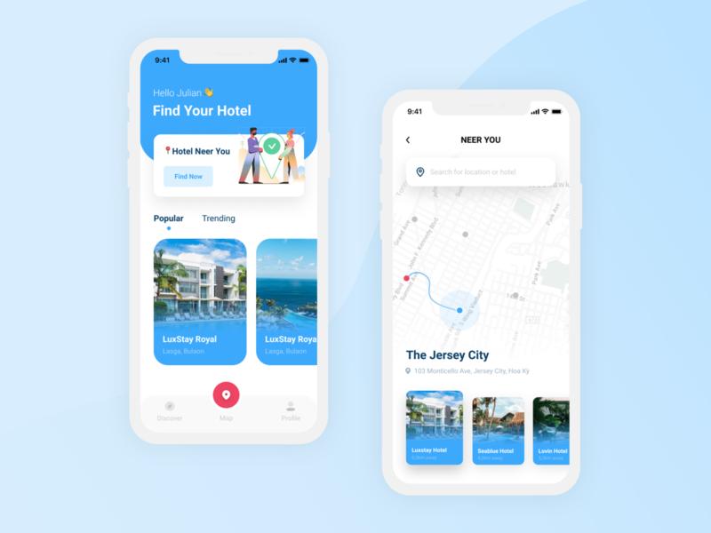 Design Daily 25 - Map design daily map design daily map hotel app map ui simple design dailyui daily 100 challenge clean ui deisgn