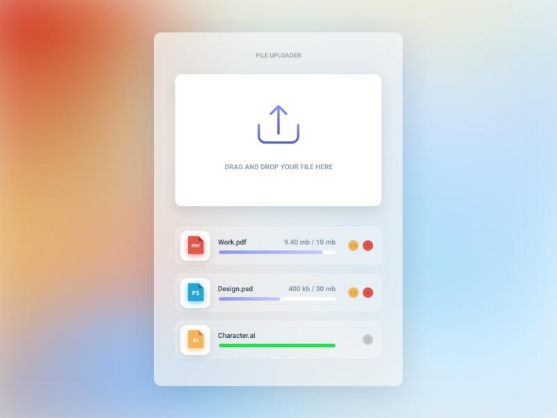Design Daily 27 - File Upload layout design simple design dailyui daily 100 challenge clean ui deisgn