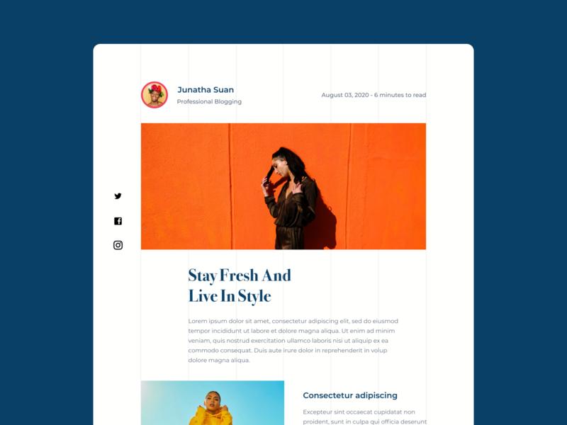 Design Daily 30 - Blog Post simple design blog post dailyui daily 100 challenge clean ui deisgn