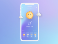 Design Daily 32 - Weather app simple design dailyui daily 100 challenge clean ui deisgn weather app
