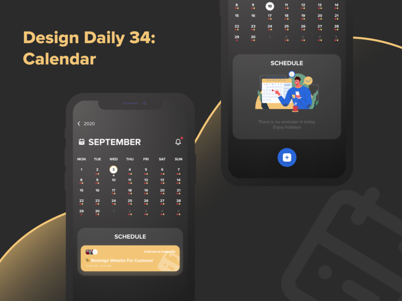Design Daily 34 - Calendar layout design simple design dailyui daily 100 challenge clean ui deisgn calendar ui