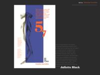 poster_шрифт Juliette Black
