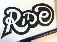 Ride Typography