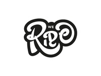 We Ride Typography