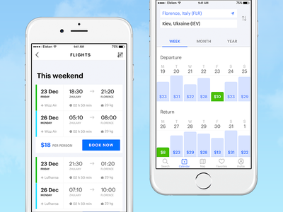 Flight Booking App price flight app ios booking ux ui