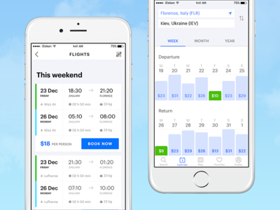 Flight Booking App price flight app ios booking ux ui