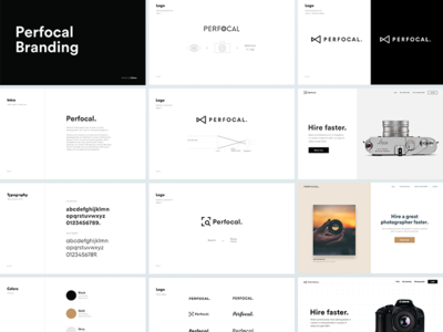 Perfocal Branding eleken photo brand discovery logo photography identity visual typography branding
