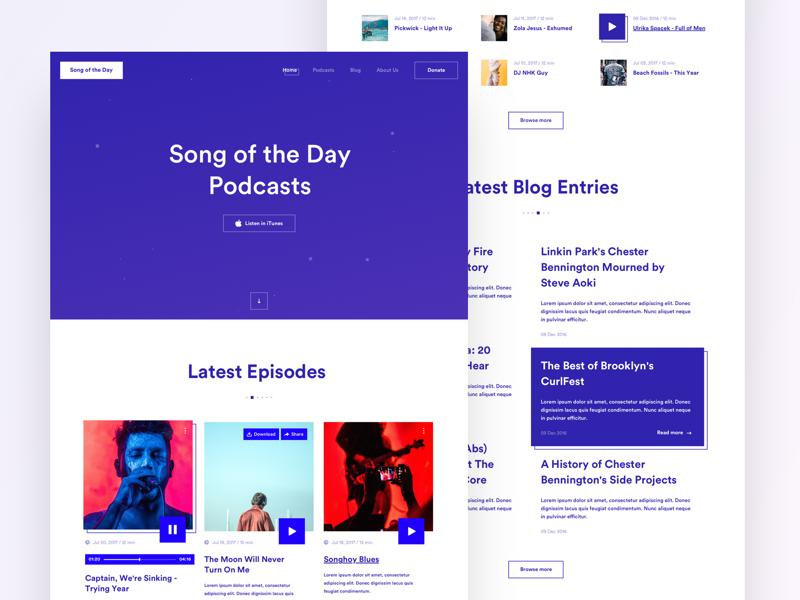 Music Podcast Landing