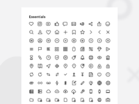 250 essential icons   outlined   solid   all formats