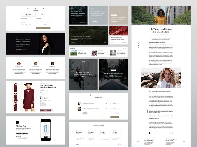 E-commerce blog web ui template store shop minimalistic kit homepage fashion eleken e-commerce
