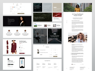 E-commerce blog web ui template store shop minimalistic kit homepage fashion eleken e-commerce