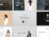 Diadema UI Kit PSD & Sketch