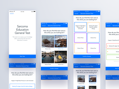 In-App Assessment testing ui assessment education mobile ux eleken app