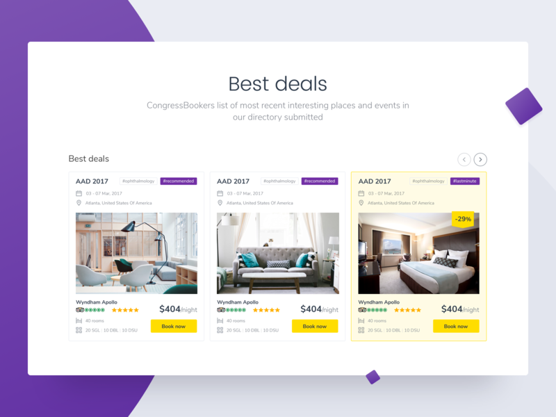 Best Deals slider rating best deals hot deal hotel booking card hotel booking landing web ux ui