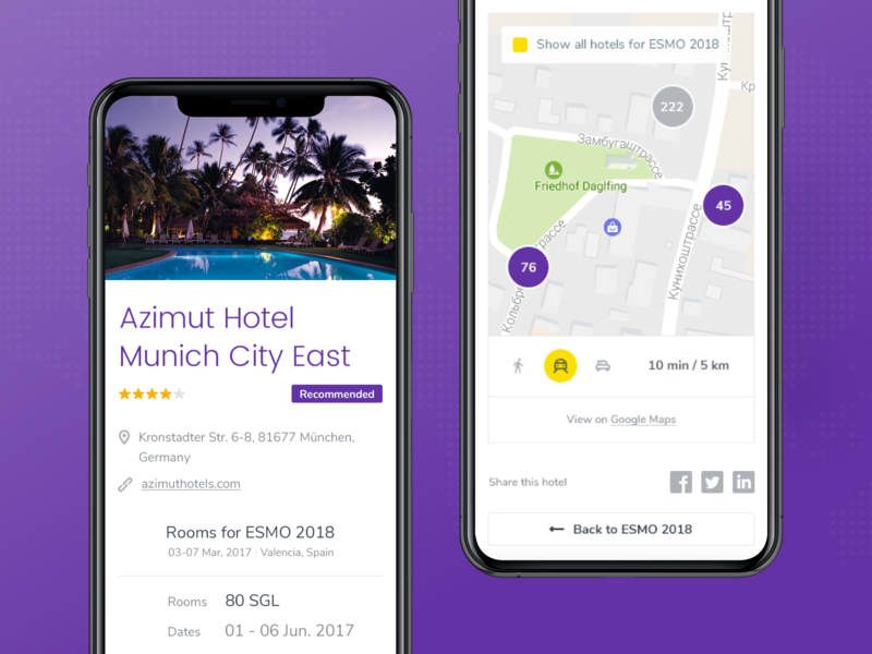 CongressBookers | Hotel page mobile hotel booking mobile web app eleken ux ui
