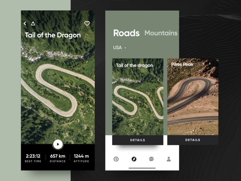 Roads slider search ios mobile app eleken ux ui
