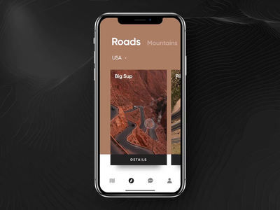 Roads Animation slider location roads ios mobile animation app eleken ux ui