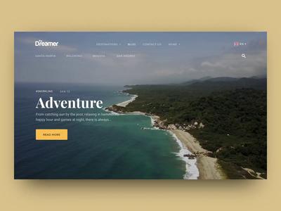 The Dreamer Hostels Menu Animation animation menu menu bar landing web eleken ux ui