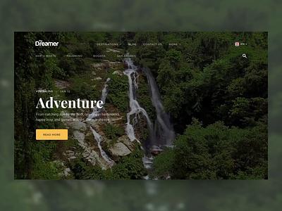 The Dreamer Hostels Search Animation video background video grid scroll loading typing search landing web animation app eleken ux ui