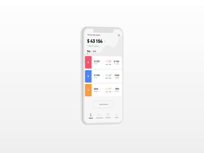 finance app app ios mobile list finance loading clockface money payment 3d promo animation ux ui