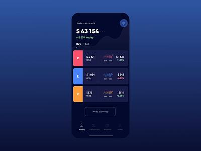 Finance App Dark Mode switcher setting light mode dark mode finance ios mobile animation app eleken ux ui