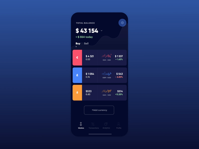 Finance App Dark Mode