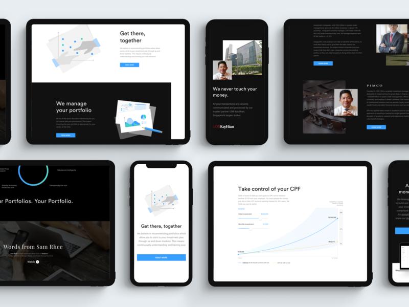endowus.com website redesign investment chart mobile illustration landing web ux ui