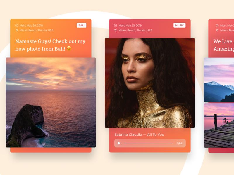 Secret Project ios cards design cards mobile web app ux ui