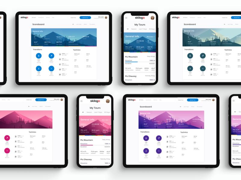 Pomocup mountains climbing device app ski mobile web ux ui