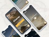 The Dreamer Hostels Mobile hotel hostel dreamer web interface web design web application web app ux ui