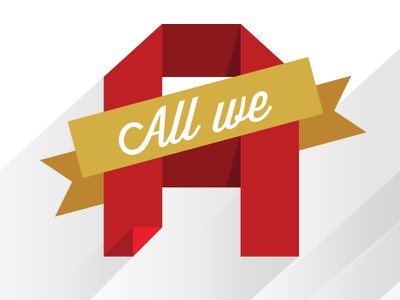 All We Are Is Dust type poster typography white red yellow custom