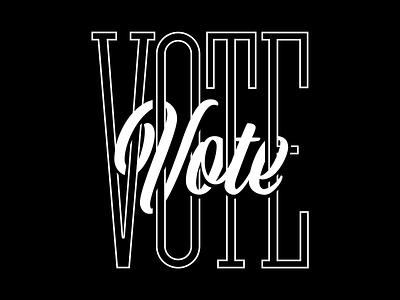 Vote 1 design vector illustration type typography