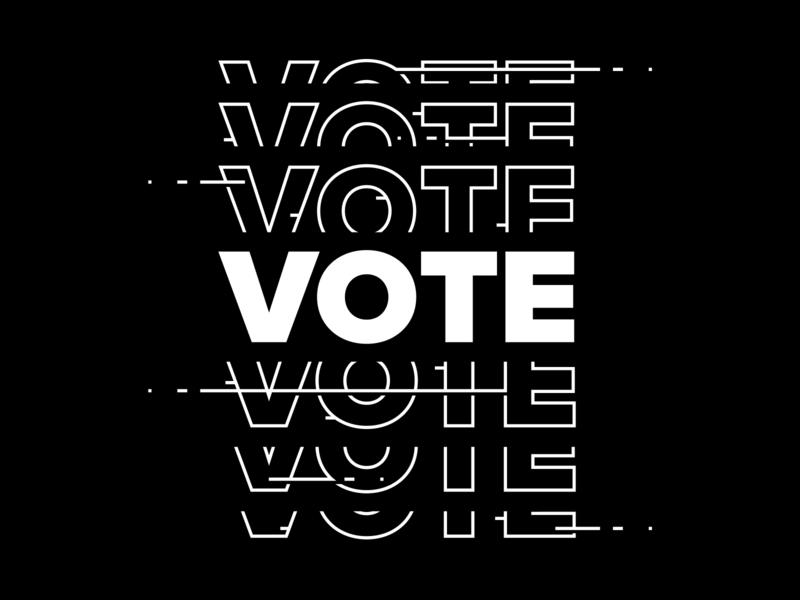 Vote 2 type vector illustration design typography
