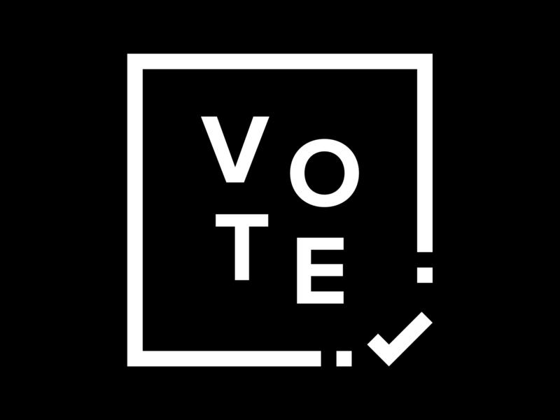 Vote 3 vector illustration type design typography