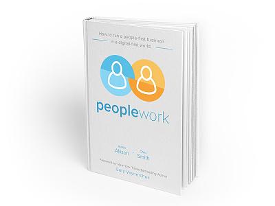 Peoplework Book Cover graphic design design icons minimal orange blue book cover
