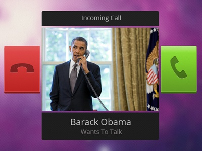 Incoming Call Widget obama widget ui call answer