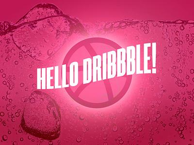 A Fresh Welcome - Hello Dribbble! freshness fresh summer bubbles sparkling soda adobe illustrator adobe photoshop illustrator first shots firstshot first hello dribbble hello hello world typography vector design illustration